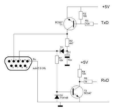 Forum Diagram: Converter RS232 to Arduino Wiring diagram Schematic on
