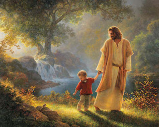 Jesus with little boy