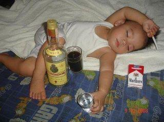 funny picture: child knock out