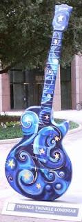 Austin, Texas, Guitar,  gibson guitars, guitar statues