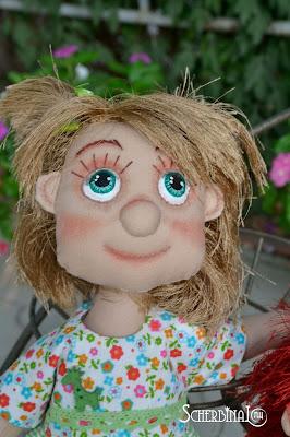 текстильная игровая кукла карамелька Людмилы Щербины