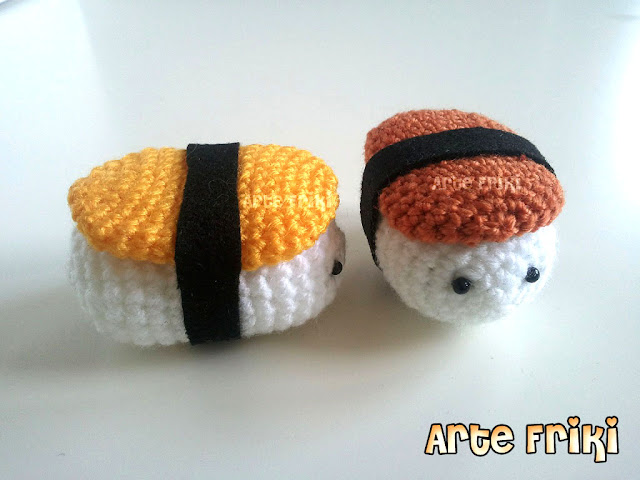 sushi amigurumi crochet ganchillo comida japonesa japanese food plush doll