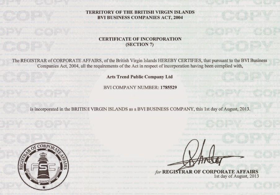 Регистрационные документы инвестиций в искусство