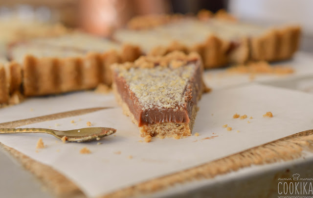 Milk Chocolate Tart with Almond Praline