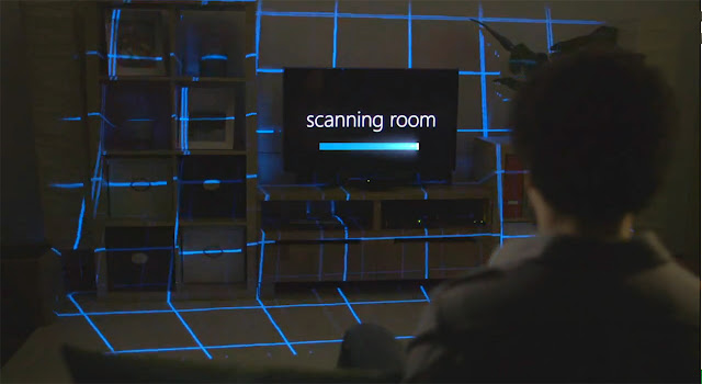 Microsoft IllumiRoom scanning room image