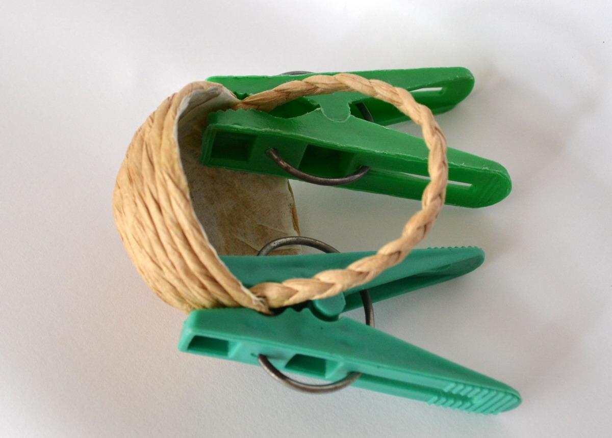 Маленькая корзинка из шпагата своими руками 3