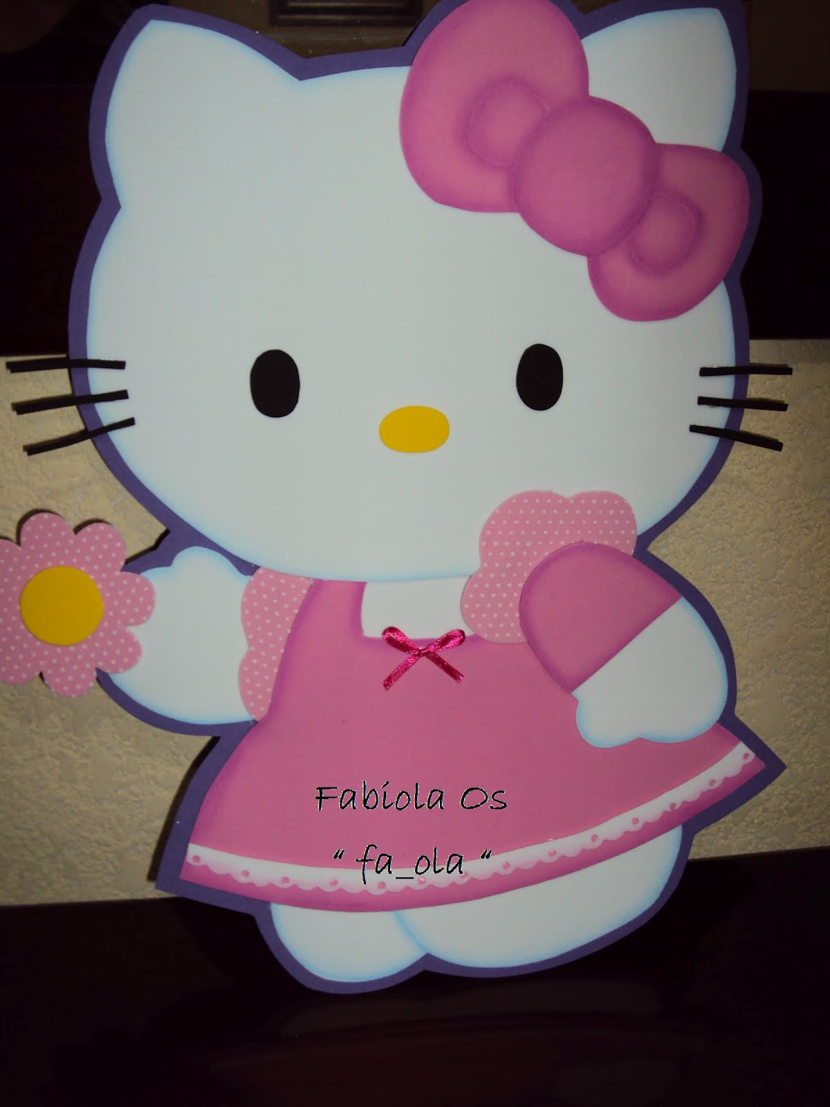 fa_ola evart`s: Adorno Hello kitty pared