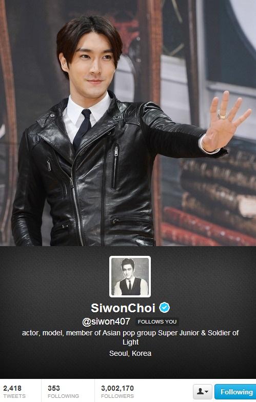 Siwon Super Junior 3 Juta Follower Twitter