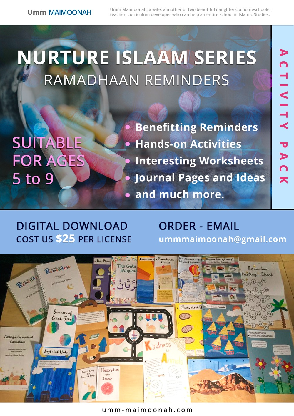 Ramadhaan Reminders Activity Pack