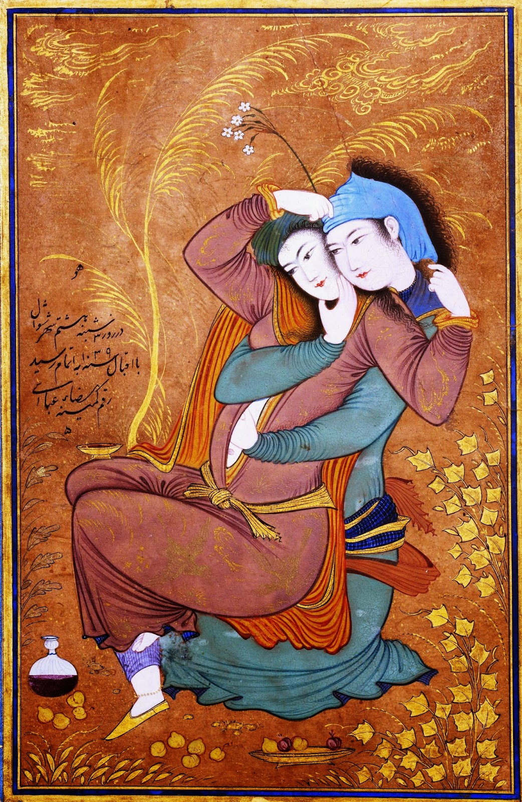 Two Lovers by Reza-i Abassi