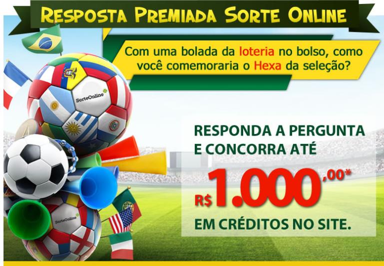 """Concurso cultural - """"Resposta Premiada Sorte Online"""""""