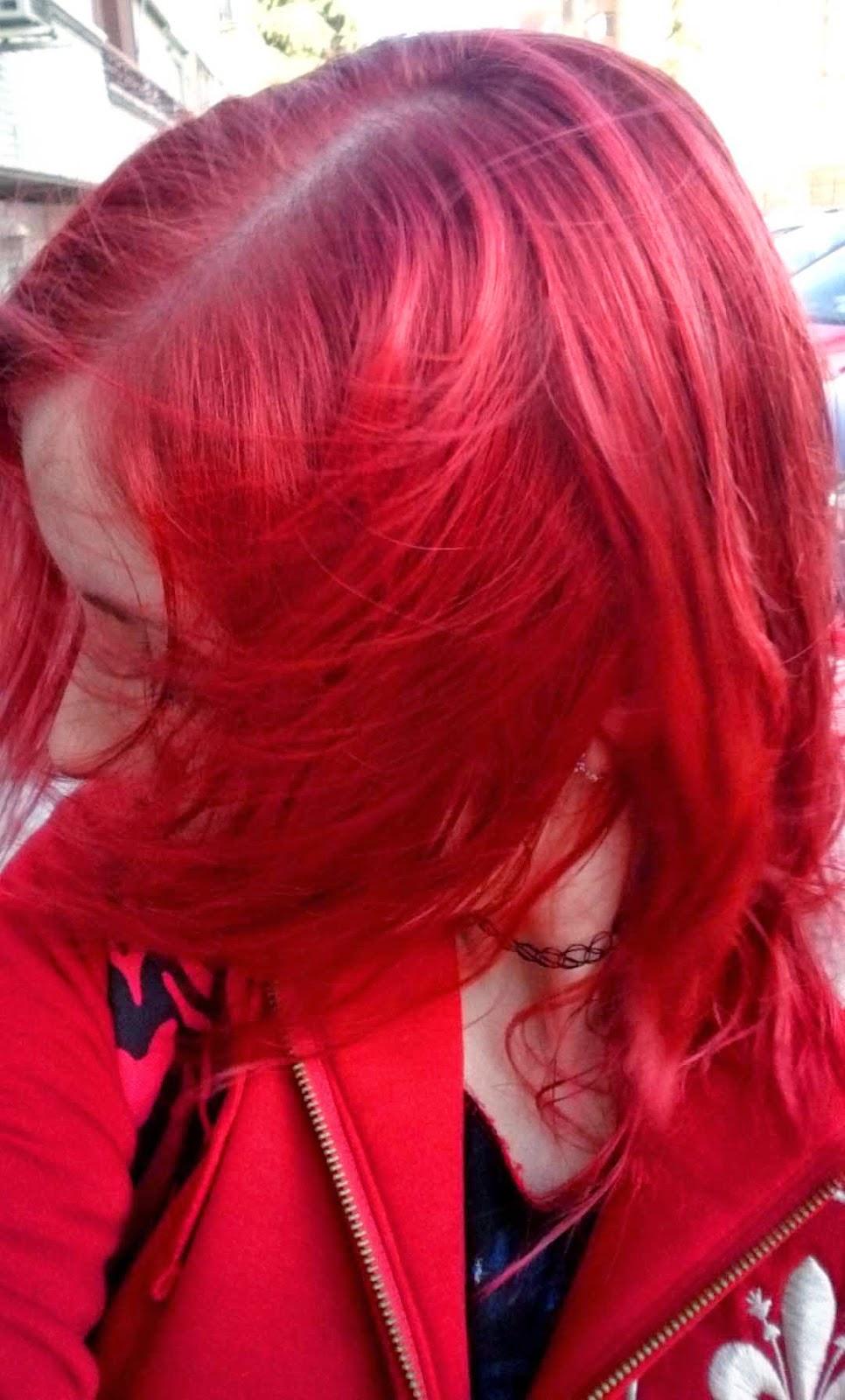 cabello extra rojo intenso
