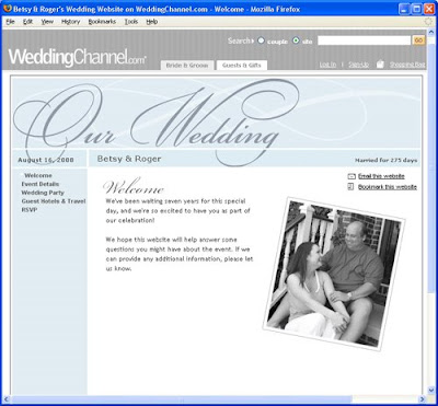 Wedding Site on Wedding Website