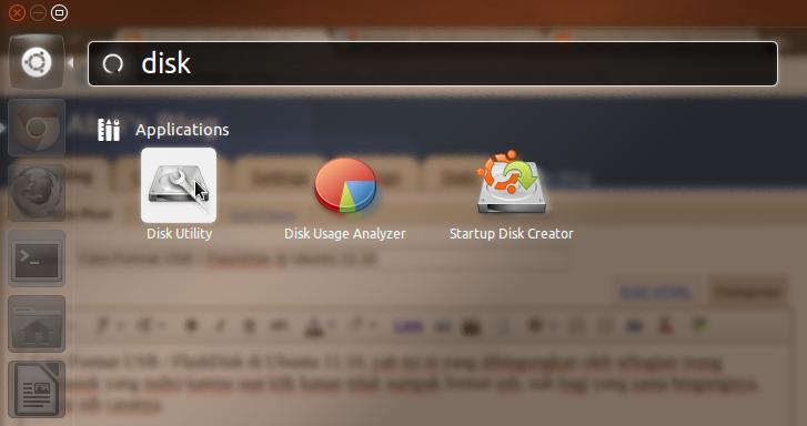 Cara Format USB / FlashDisk di Ubuntu 11.10