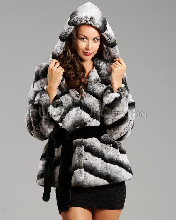 Chinchilla Rabbit Fur Coat Chinchilla Rabbit Fur Coat