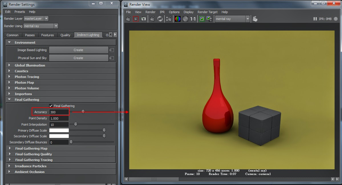 FG Render Setting in Maya 10