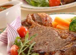 Steak Daging Saus Jamur