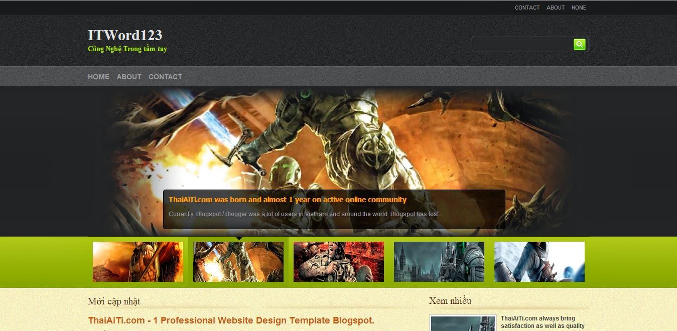 Share Template Blogspot tin tức công nghệ 2014