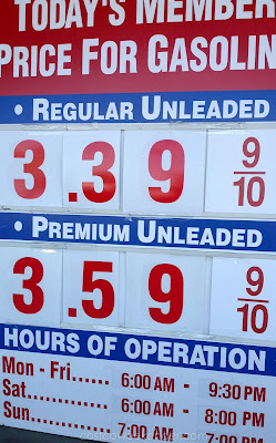 Costco gas for May 12, 2015 at Redwood City, CA