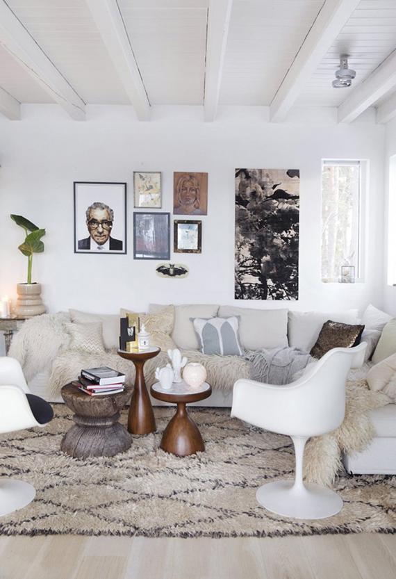 Sophisticated cozy living room via KK Living