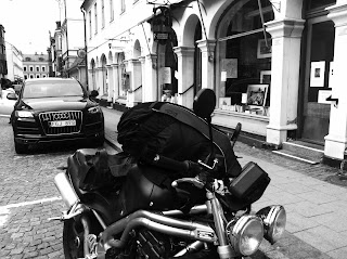 kori back protector is packed with motorcycle equipment becomes a big back pack