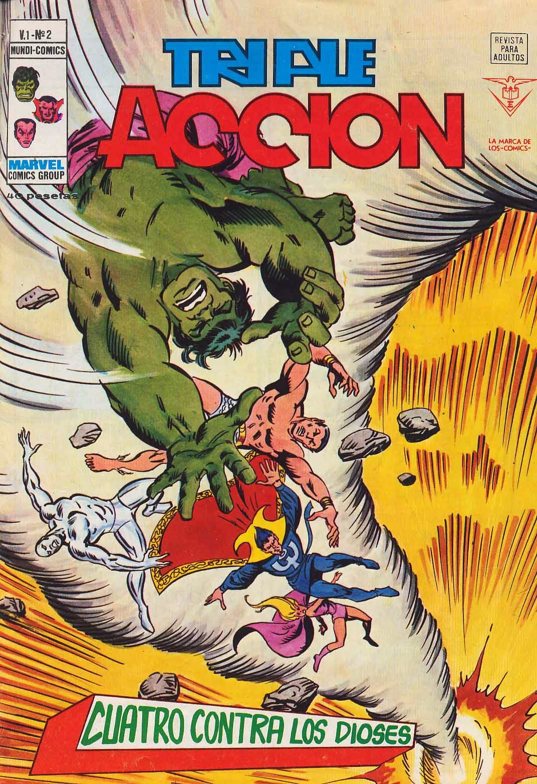 Portada de Triple Acción Volumen 1 Nº 2 Ediciones Vértice