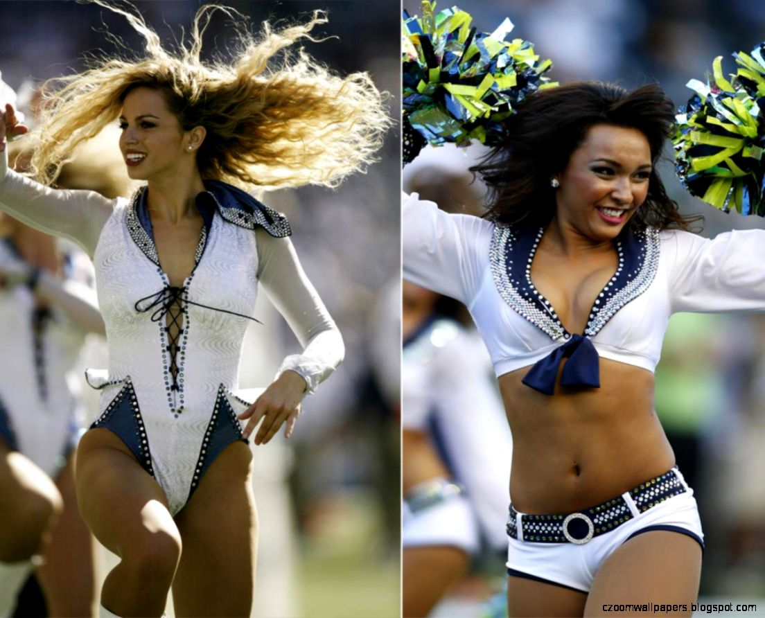 Seattle Seahawks Nfl Cheerleader Wallpaper