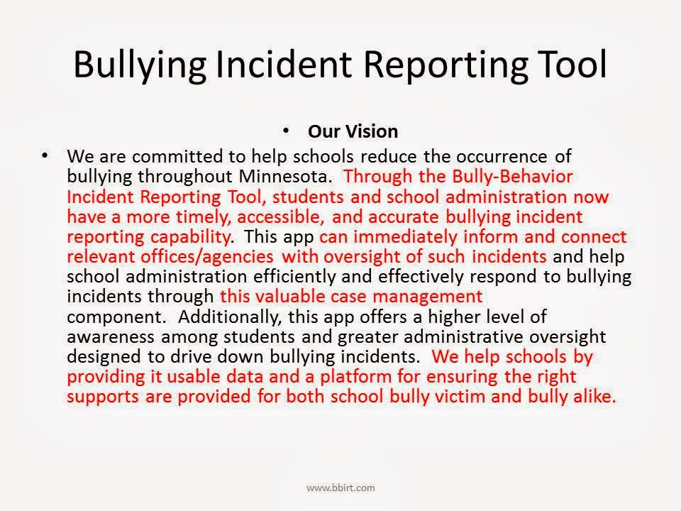 research about bullying Statement of the problem • accessibility to technology on-the-go has led to an increase in becoming a cyberbully or being a victim • a recent study surveyed a group of youth ranging from 12 to 18 years old and found that 97 % of those youth had used the internet at least once a week.