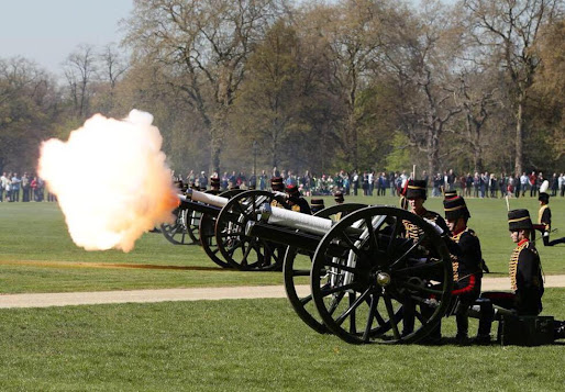 A 41 Royal Gun Salute for a Royal Princess in HydePark