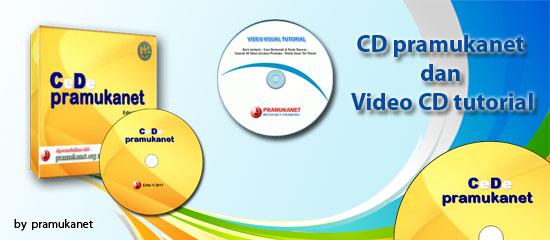 CD pramukanet media belajar kepramukaan, berisi aneka macam Pengetahuan dan Ketrampilan Pramuka dan Video tutorial sangat membantu para Pembina Pramuka untuk menguasai ketrampilan Kepramukaan