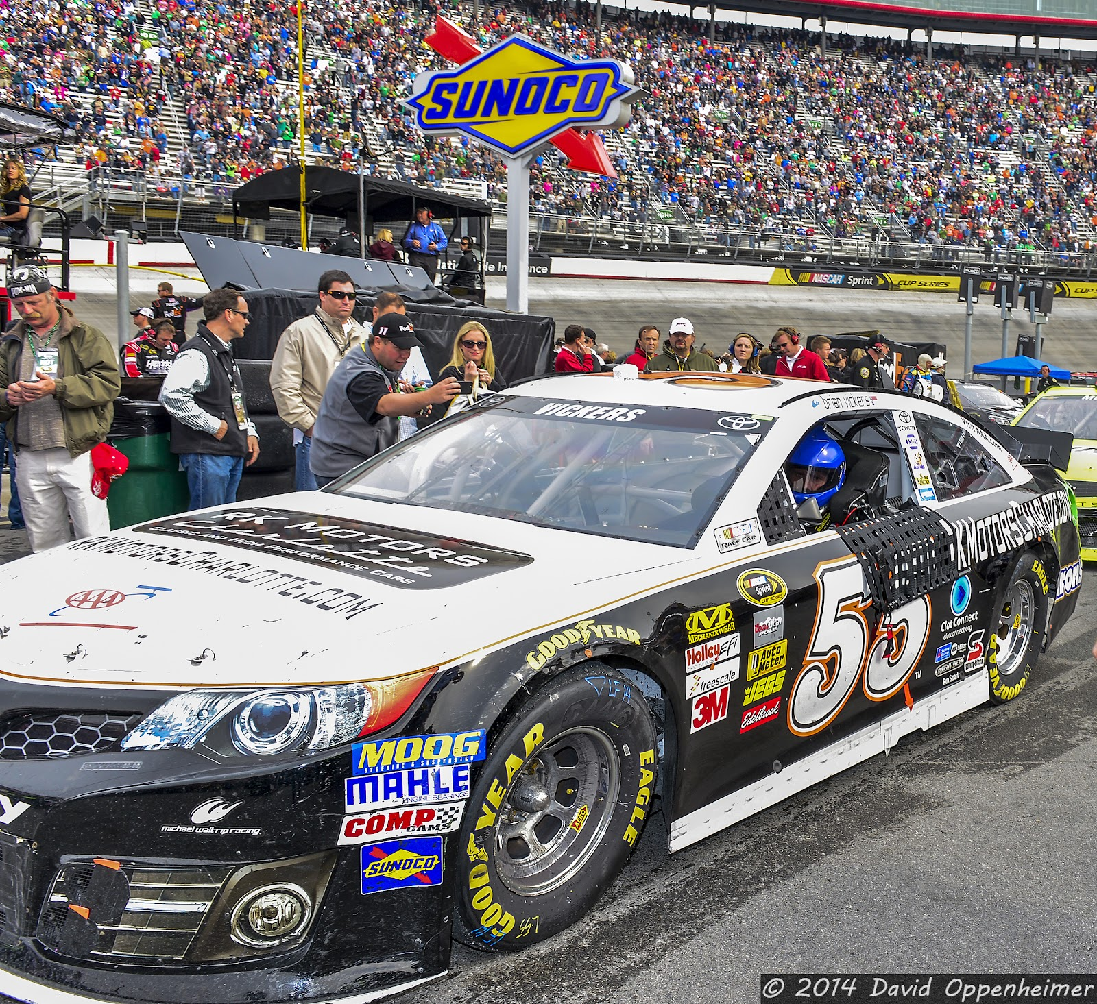 Brian Vickers at Bristol Motor Speedway during NASCAR Sprint Cup Food City 500