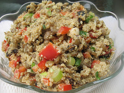 curry quinoa and lentil salad