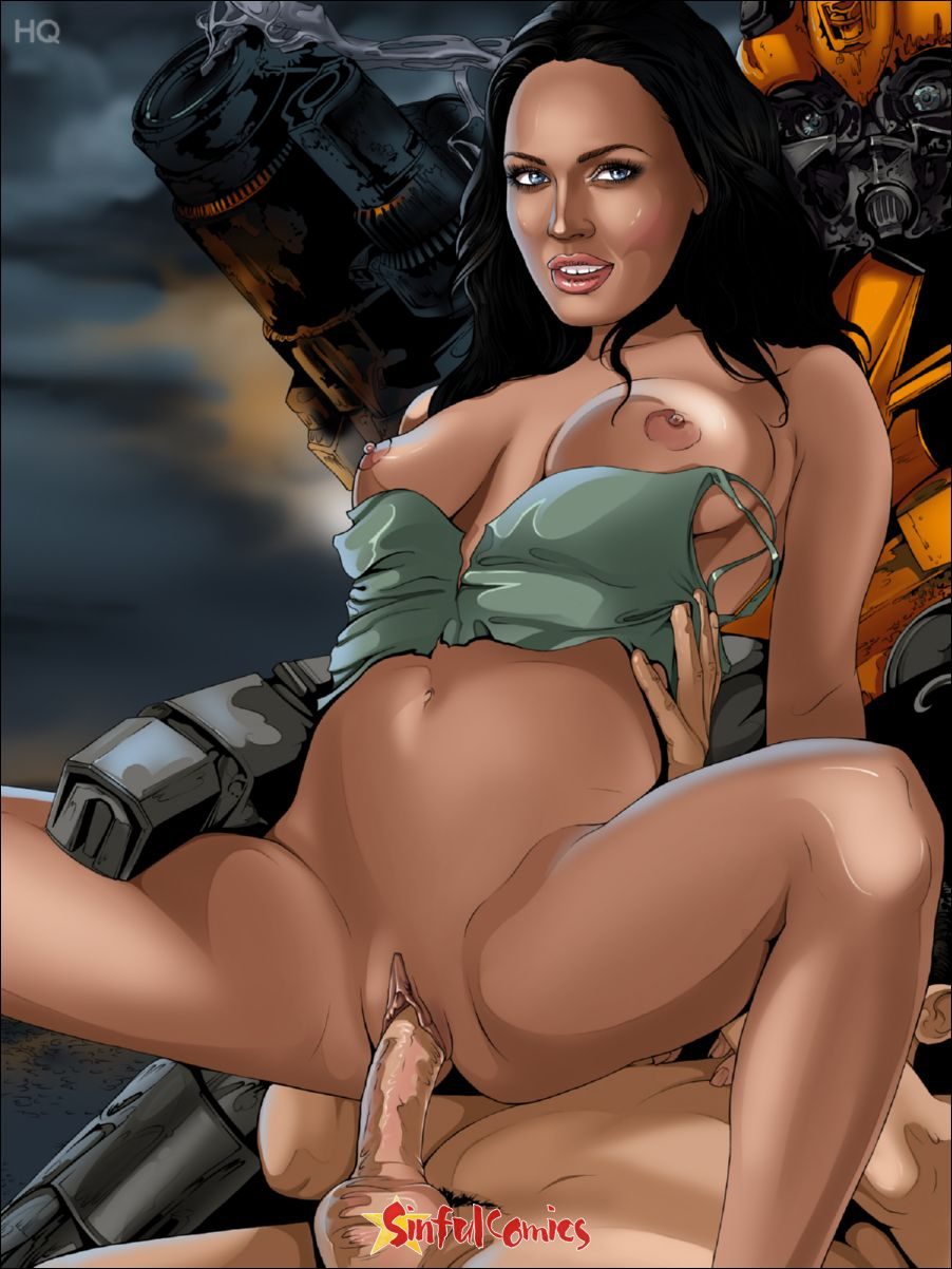 Fake Master Blog: Megan Fox Transformers (Sinful Comics)