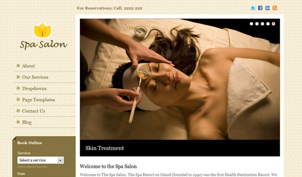 Spa Salon Wordpress Theme Free Download by Templatic.