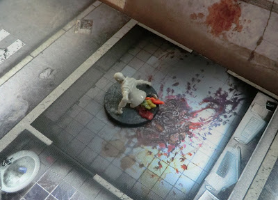 Zombicide, zombies, crawlers, walkers, painted, converted, entrails, clay-do