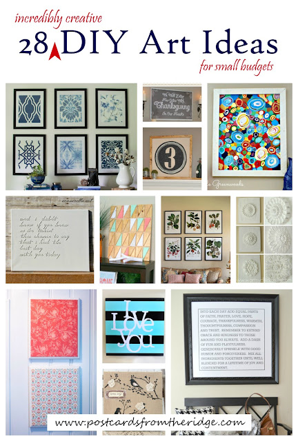 28 incredibly creative DIY art ideas for small budgets. So many great ideas!