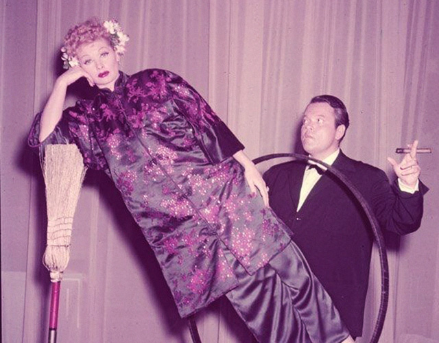 Orson Welles and Lucille Ball