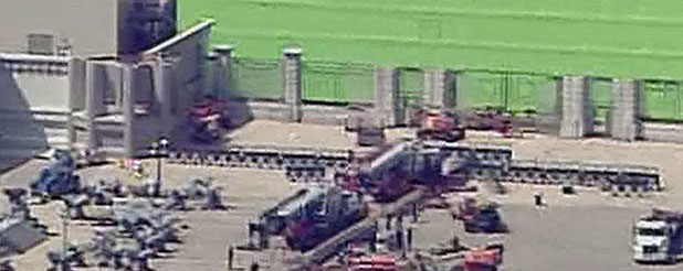 Pictures Of The Mockingjay Set At The OFS Plant In Norcross, GA