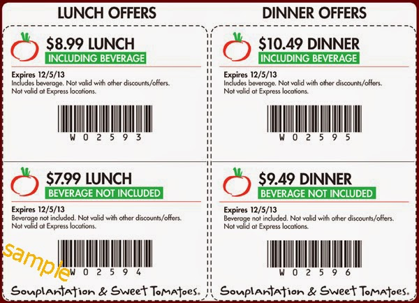 Souplantation coupon lunch september 2018