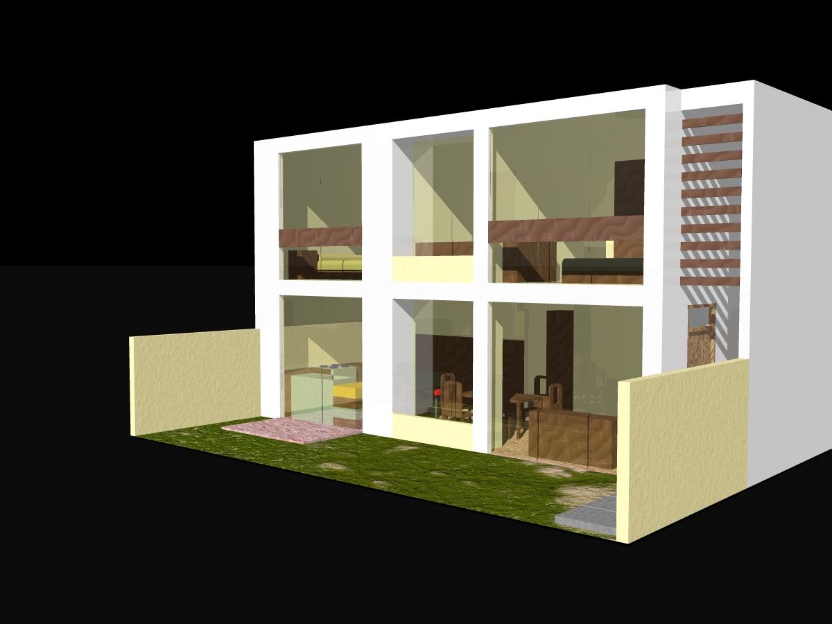 Arquitectura con identidad vivienda unifamiliar al fondo for Casa vivienda jardin pdf