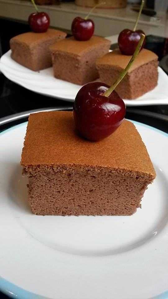 Japanese Cocoa Cotton Cheesecake By Kim Heahsk Baking