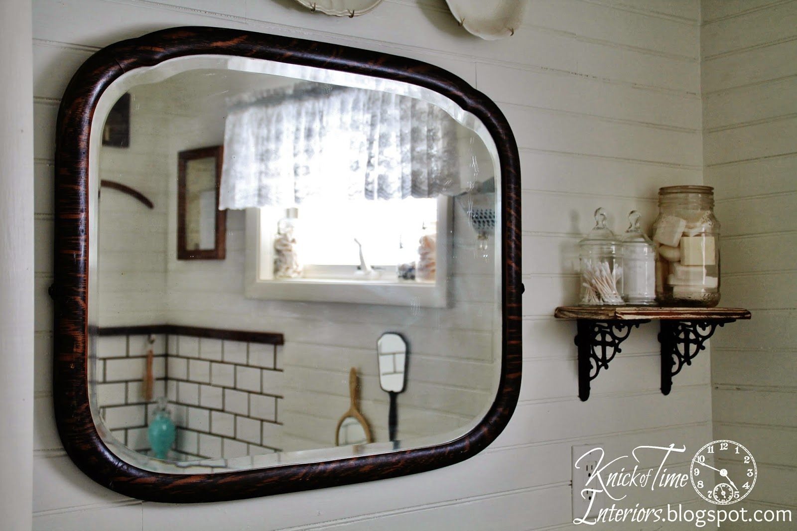Antique Mirror Farmhouse Bathroom Remodel Knick Of Time