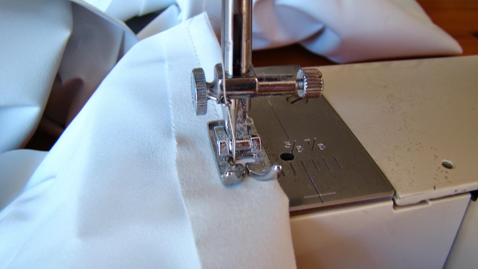 how to make curtains seam allowance