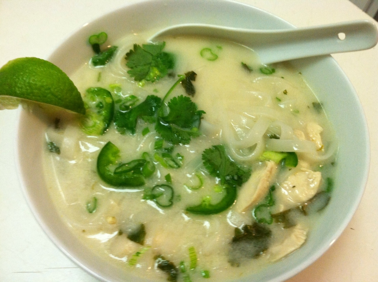 Coconut Lime Noodle Soup Recipe — Dishmaps