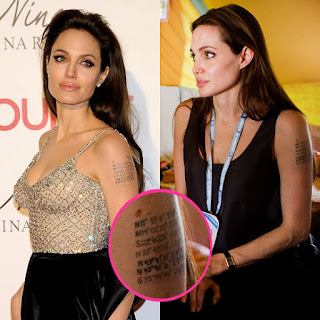angelina jolie geographical covered up tattoo 
