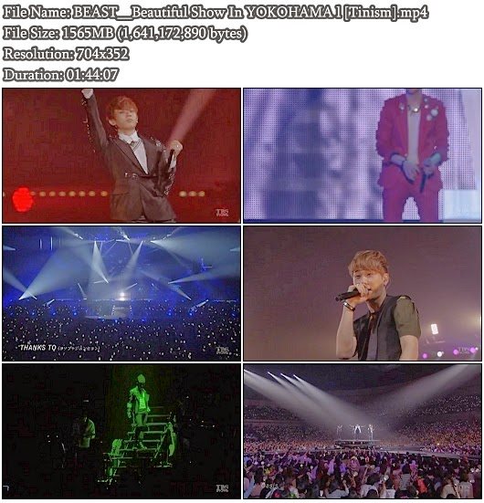 Download Full Show BEAST / B2ST / 비스트 - TBS 2012 BEAST WORLD TOUR BEAUTIFUL SHOW in YOKOHAMA