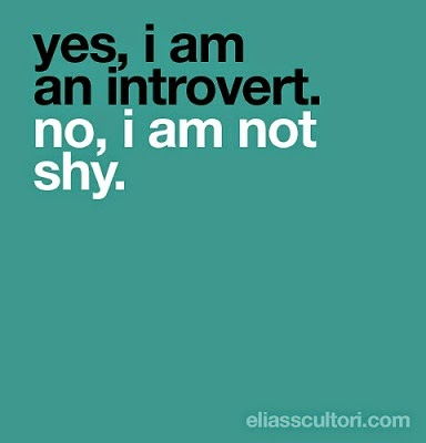 Introvert But Not Shy