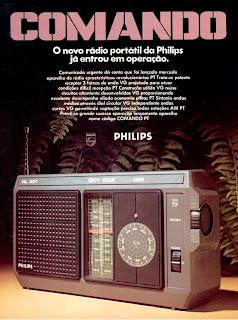 Anúncio rádio portátil Comando - Philips - 1977