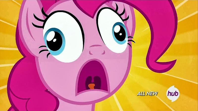 Pinkie Pie makes a face
