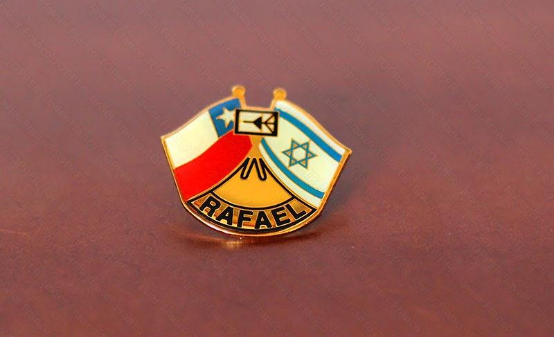 Broches o 'pin' de aviación - Relación Israel / Chile - Rafael